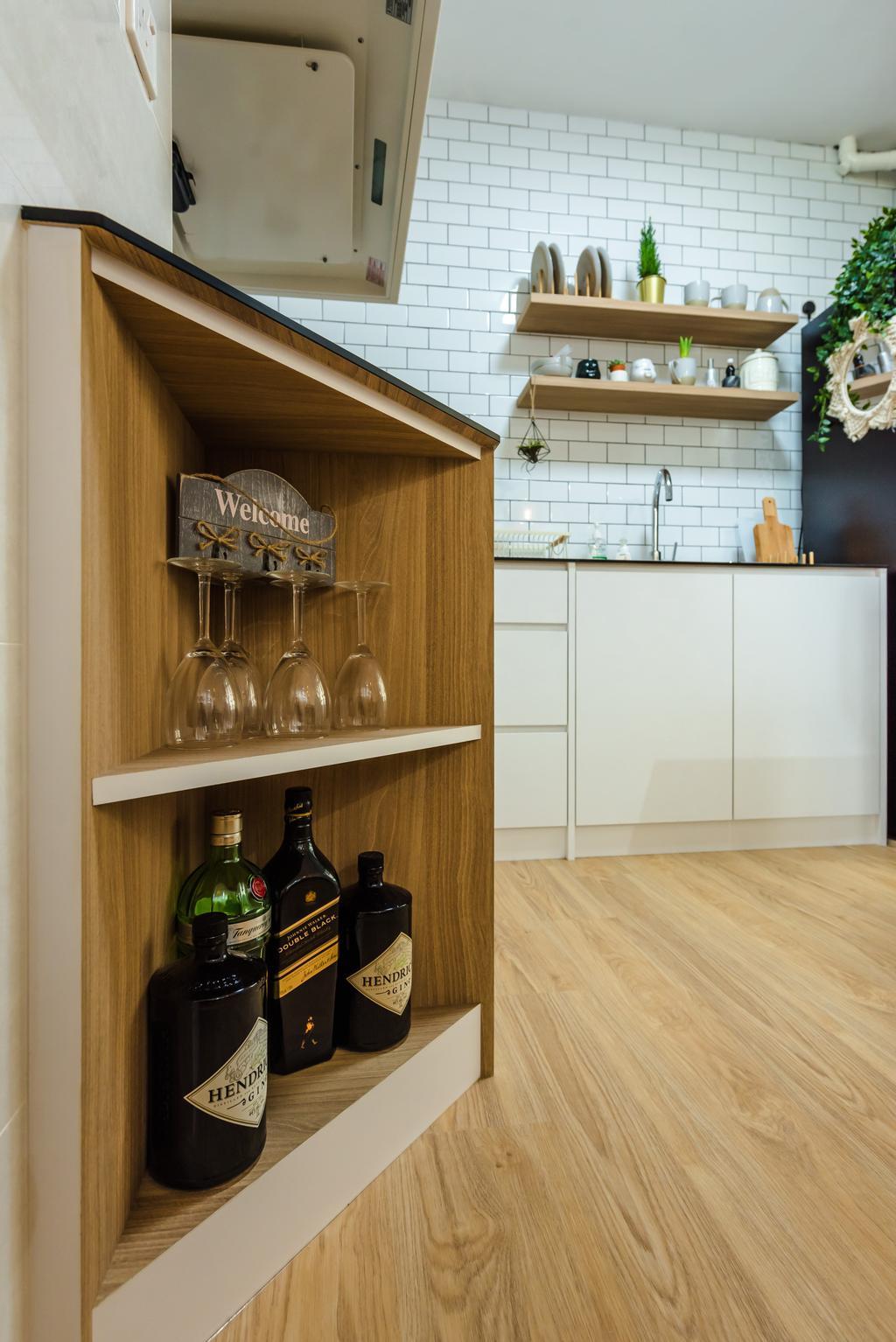Scandinavian, HDB, Kitchen, Tampines North Drive 1, Interior Designer, Archive Design
