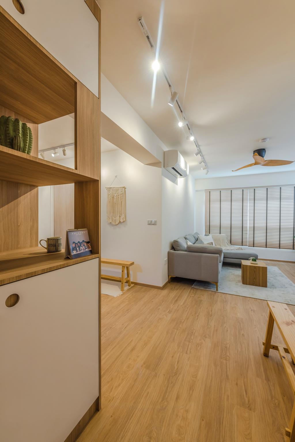 Scandinavian, HDB, Living Room, Tampines North Drive 1, Interior Designer, Archive Design