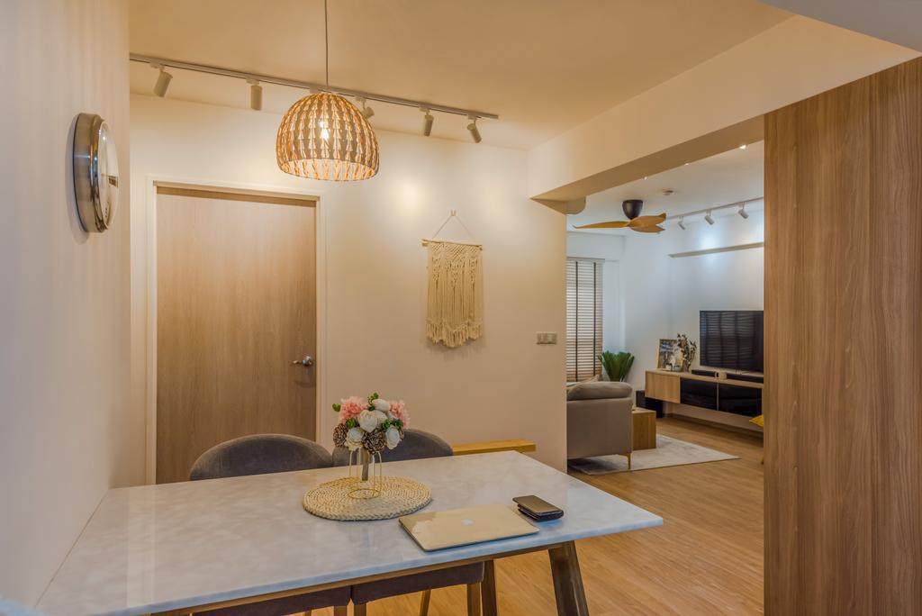 Scandinavian, HDB, Dining Room, Tampines North Drive 1, Interior Designer, Archive Design