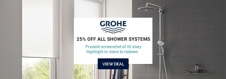 25% off all Grohe shower systems
