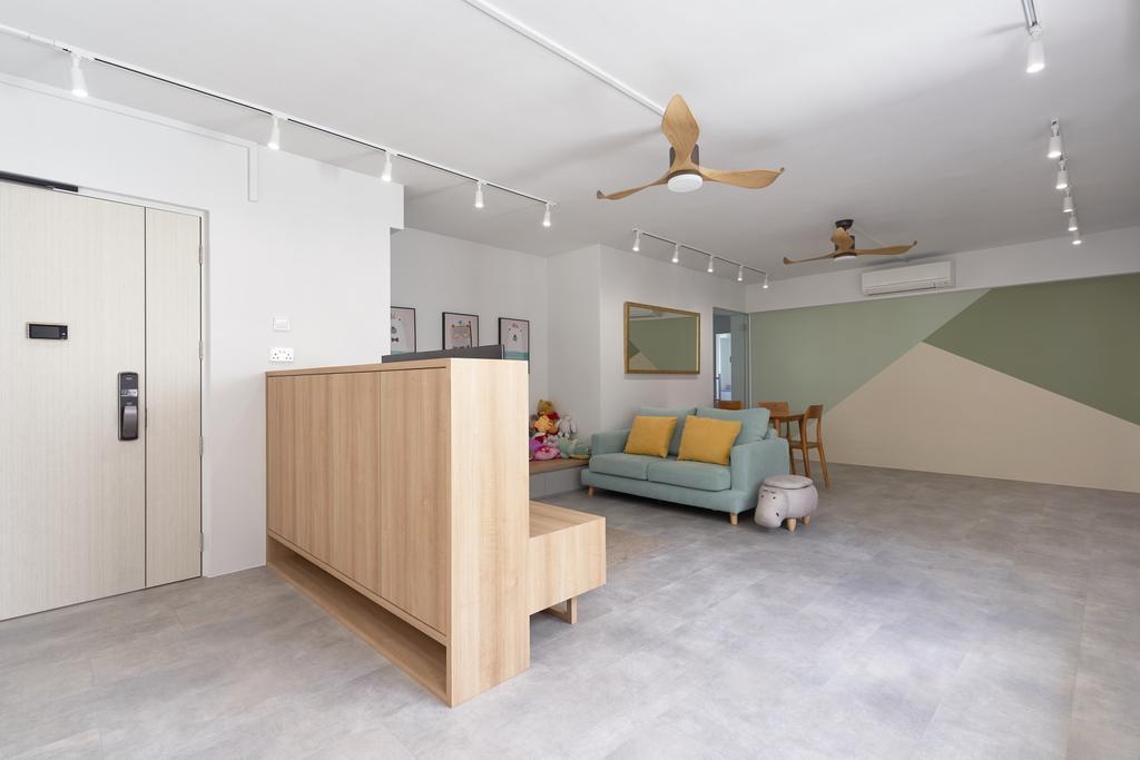 Scandinavian, HDB, Living Room, Jurong West Central 1, Interior Designer, Forefront Interior