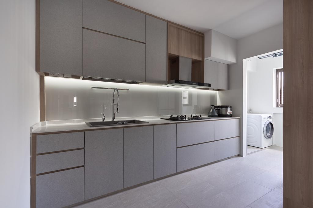 Scandinavian, HDB, Kitchen, Jurong West Central 1, Interior Designer, Forefront Interior