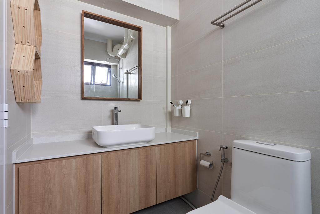 Scandinavian, HDB, Bathroom, Jurong West Central 1, Interior Designer, Forefront Interior