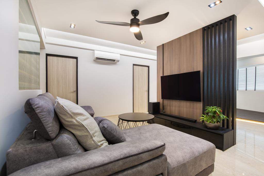 Contemporary, HDB, Living Room, Kang Ching Road, Interior Designer, SHE Interior, Modern