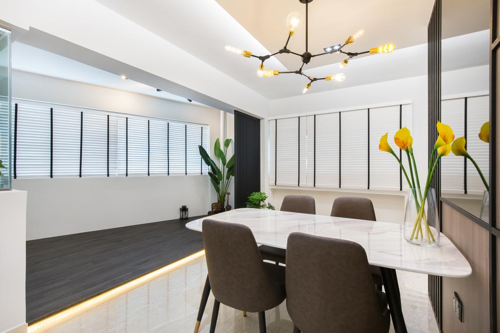 Contemporary, HDB, Dining Room, Kang Ching Road, Interior Designer, SHE Interior, Modern