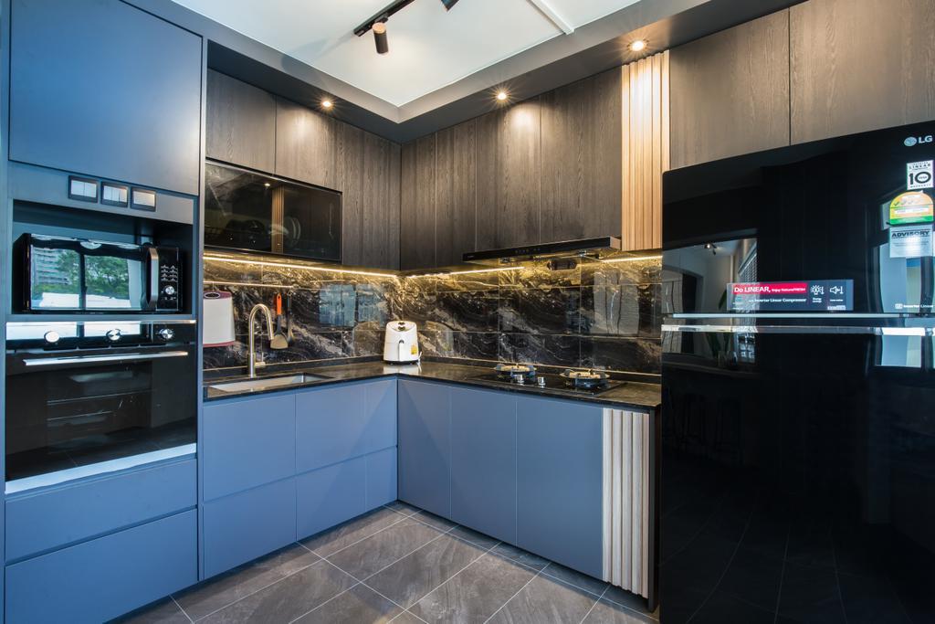 Contemporary, HDB, Kitchen, Kang Ching Road, Interior Designer, SHE Interior, Modern