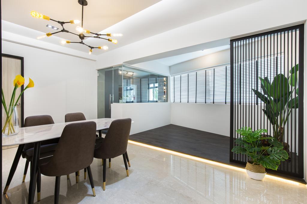 Contemporary, HDB, Balcony, Kang Ching Road, Interior Designer, SHE Interior, Modern, Platform, Indoor Balcony