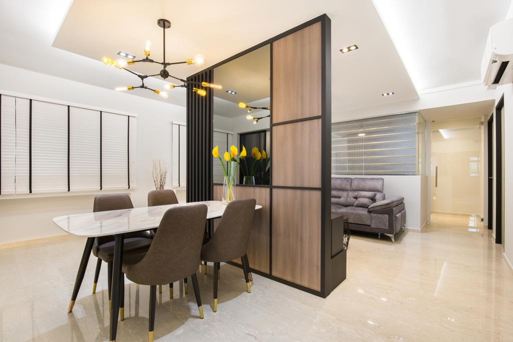 Contemporary, HDB, Dining Room, Kang Ching Road, Interior Designer, SHE Interior, Modern