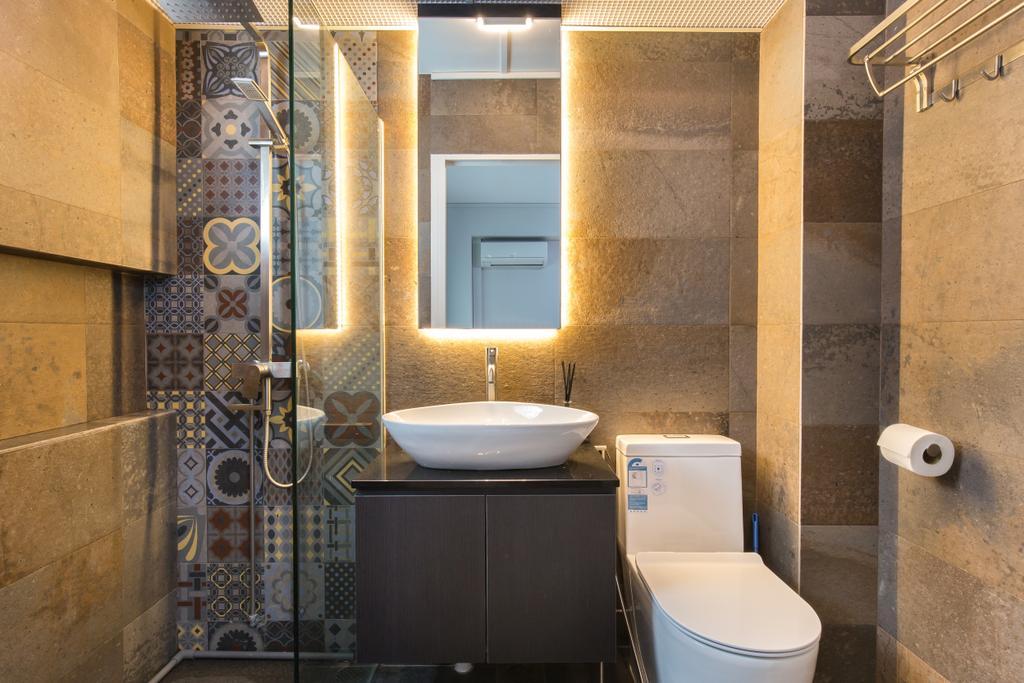 Contemporary, HDB, Bathroom, Kang Ching Road, Interior Designer, SHE Interior, Modern