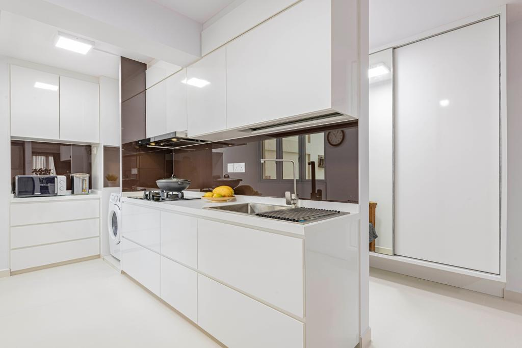 Minimalistic, HDB, Kitchen, Ah Hood Road, Interior Designer, Posh Living Interior Design
