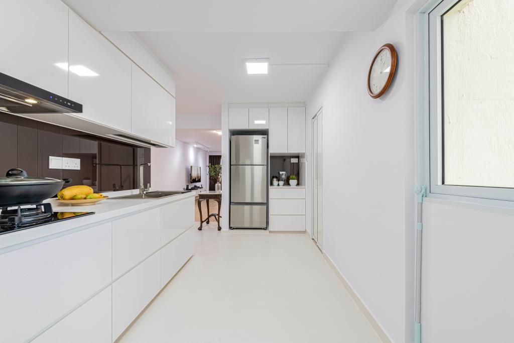 Minimalistic, HDB, Kitchen, Ah Hood Road, Interior Designer, Posh Living Interior Design