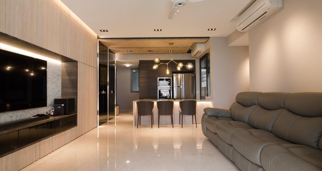 Modern, Condo, Living Room, Rivertrees Residences, Interior Designer, Posh Living Interior Design