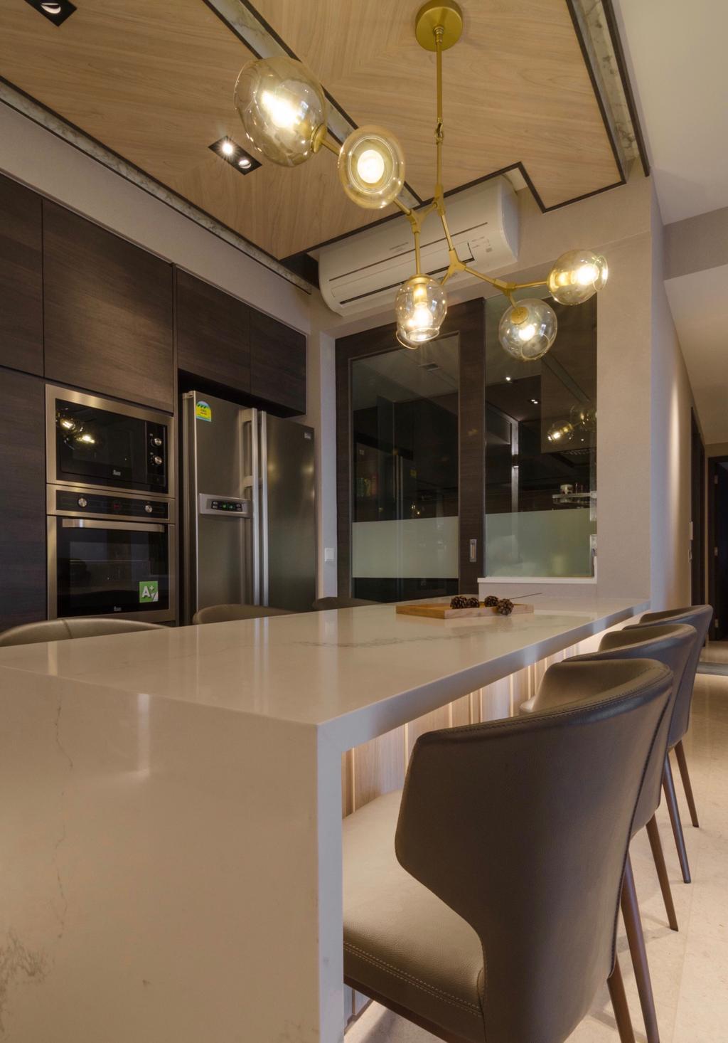 Modern, Condo, Kitchen, Rivertrees Residences, Interior Designer, Posh Living Interior Design