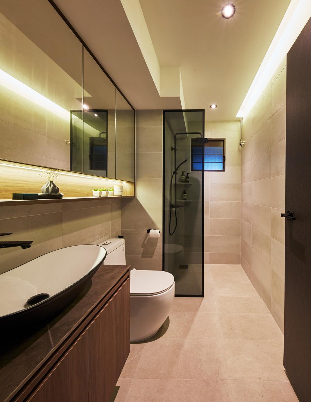 Contemporary, HDB, Bathroom, Fernvale Road, Interior Designer, The Interior Lab