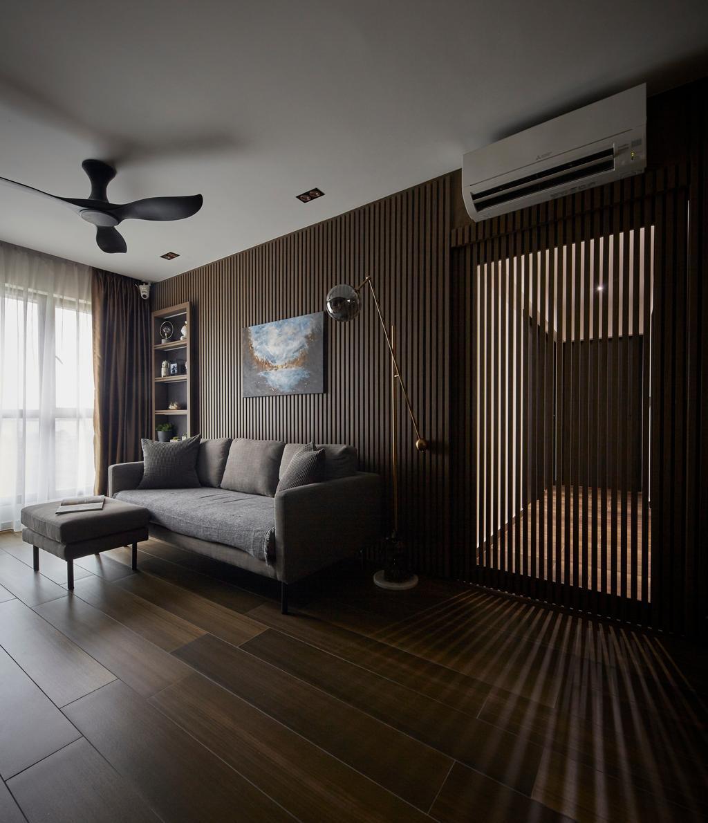 Contemporary, HDB, Living Room, Fernvale Road, Interior Designer, The Interior Lab