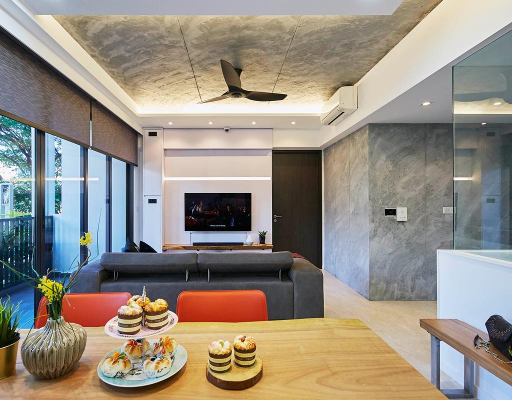 Contemporary, Condo, Living Room, Botanique At Bartley, Interior Designer, i-Chapter