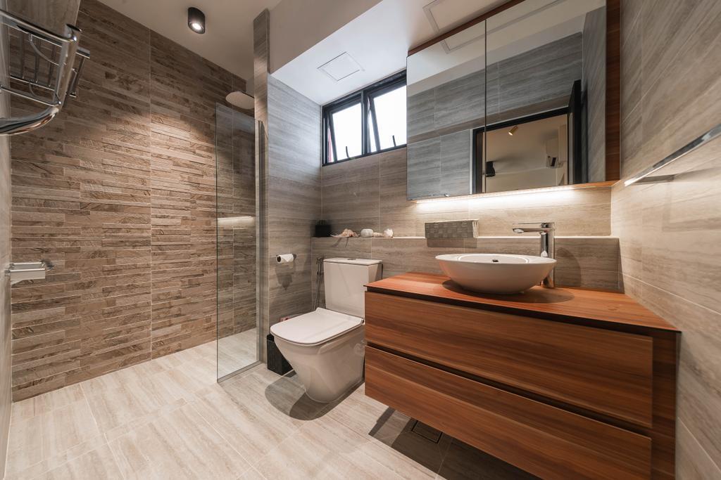 Contemporary, HDB, Bathroom, Sembawang Drive, Interior Designer, Tan Studio, Modern