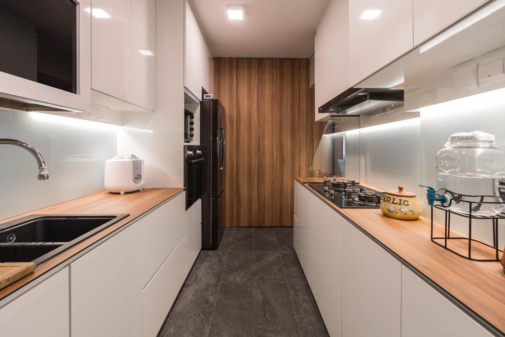 Contemporary, HDB, Kitchen, Sembawang Drive, Interior Designer, Tan Studio, Modern