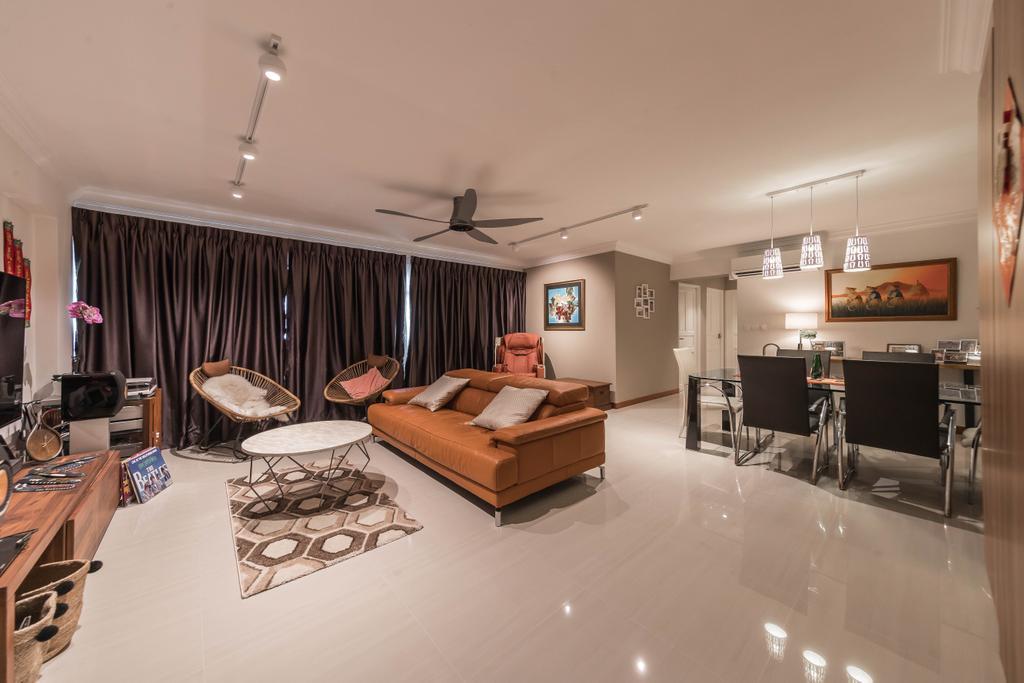 Contemporary, HDB, Living Room, Sembawang Drive, Interior Designer, Tan Studio, Modern