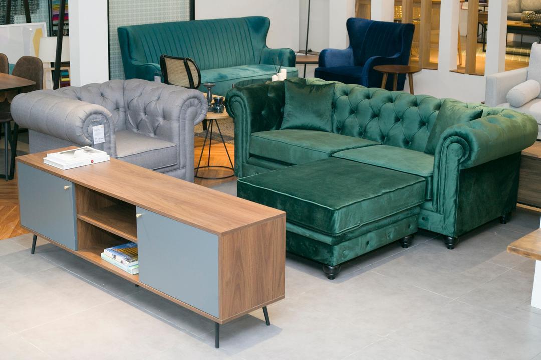 stylish velvet sofa