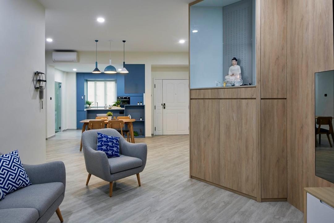 Hillview Green, MET Interior, Scandinavian, Living Room, Condo, Altar
