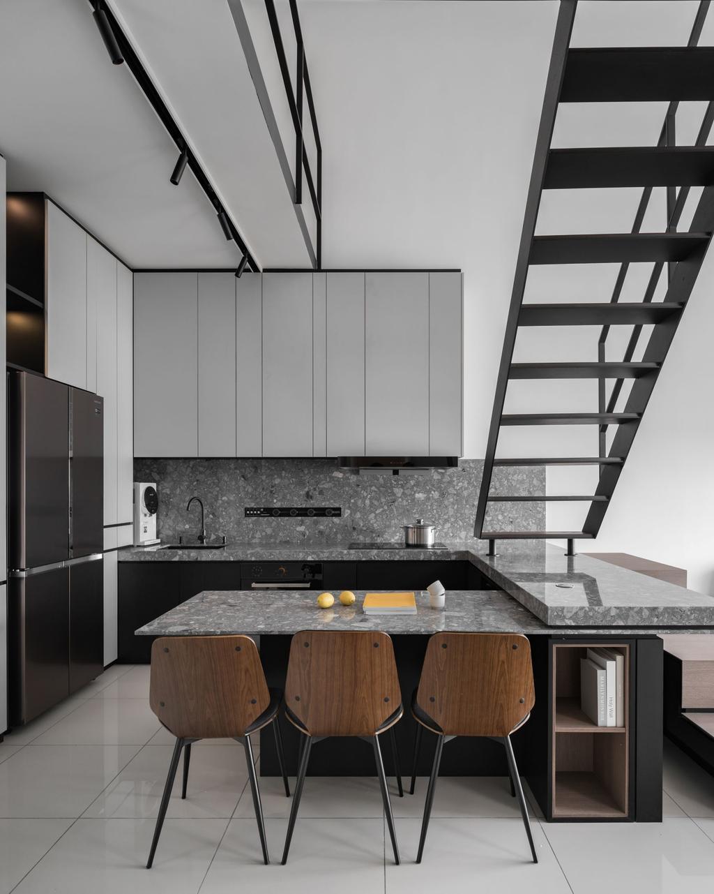 Modern, Condo, Dining Room, The Parque, Eco Sanctuary, Interior Designer, PINS Studio, Contemporary