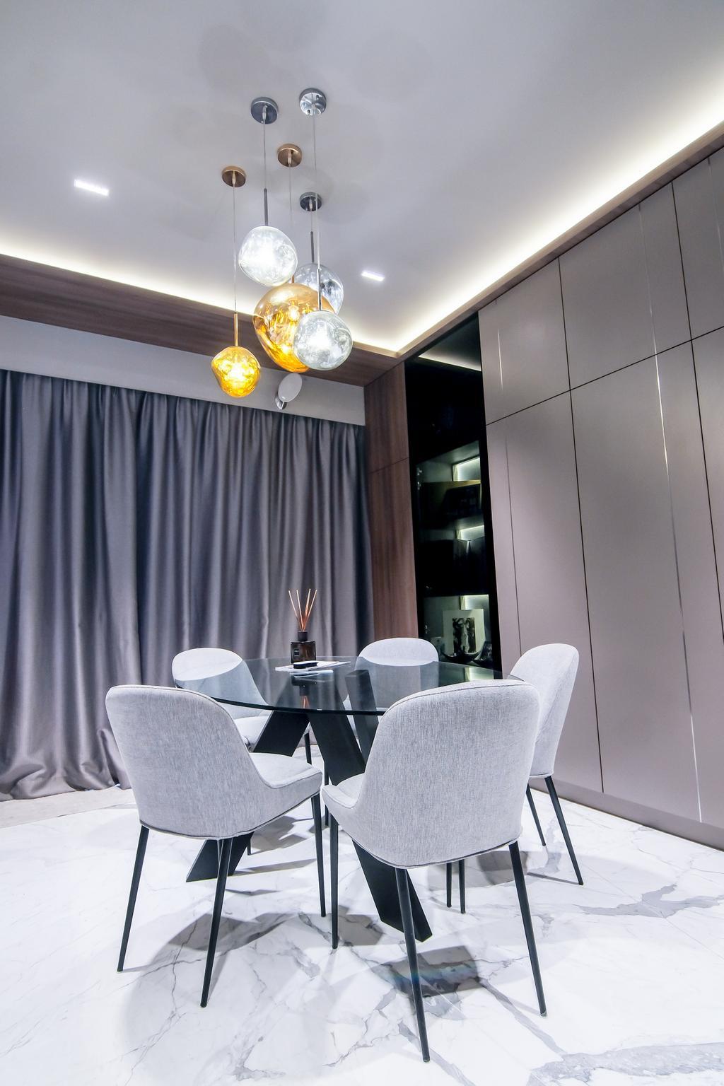 Contemporary, Condo, Dining Room, East Coast Road, Interior Designer, PHD Posh Home Design, Modern