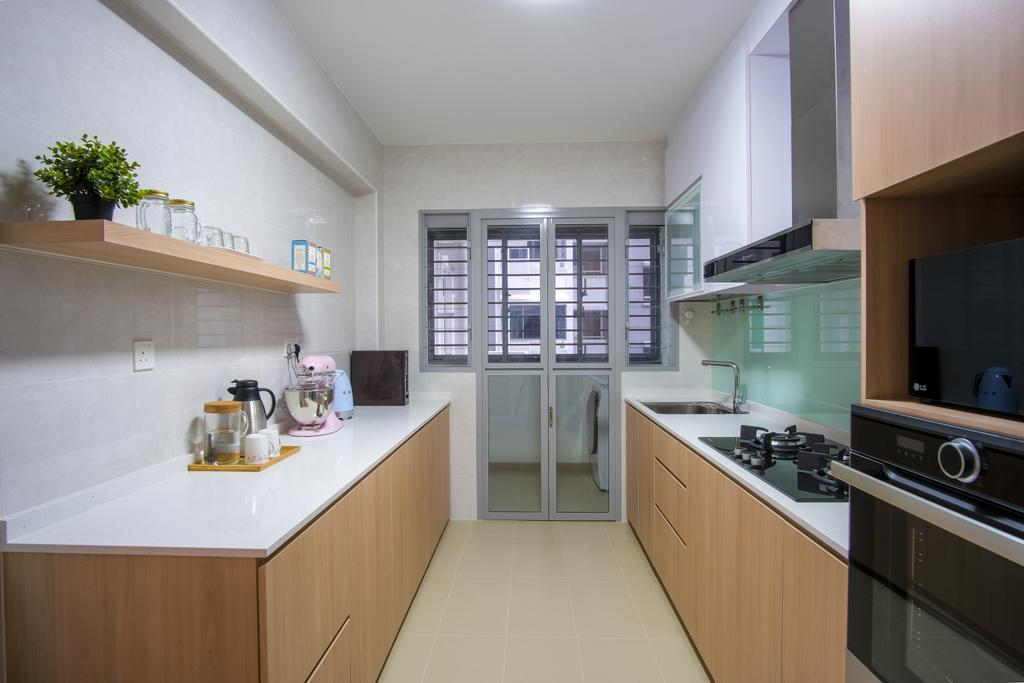 Scandinavian, HDB, Kitchen, Tampines North Drive 1, Interior Designer, Starry Homestead
