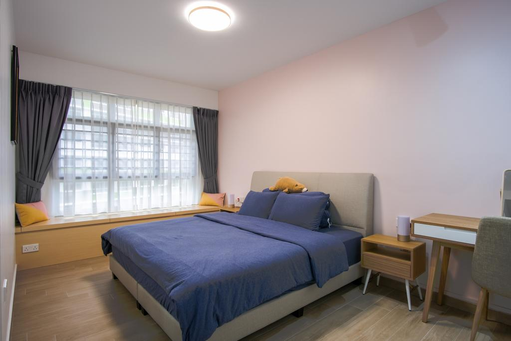 Scandinavian, HDB, Bedroom, Tampines North Drive 1, Interior Designer, Starry Homestead