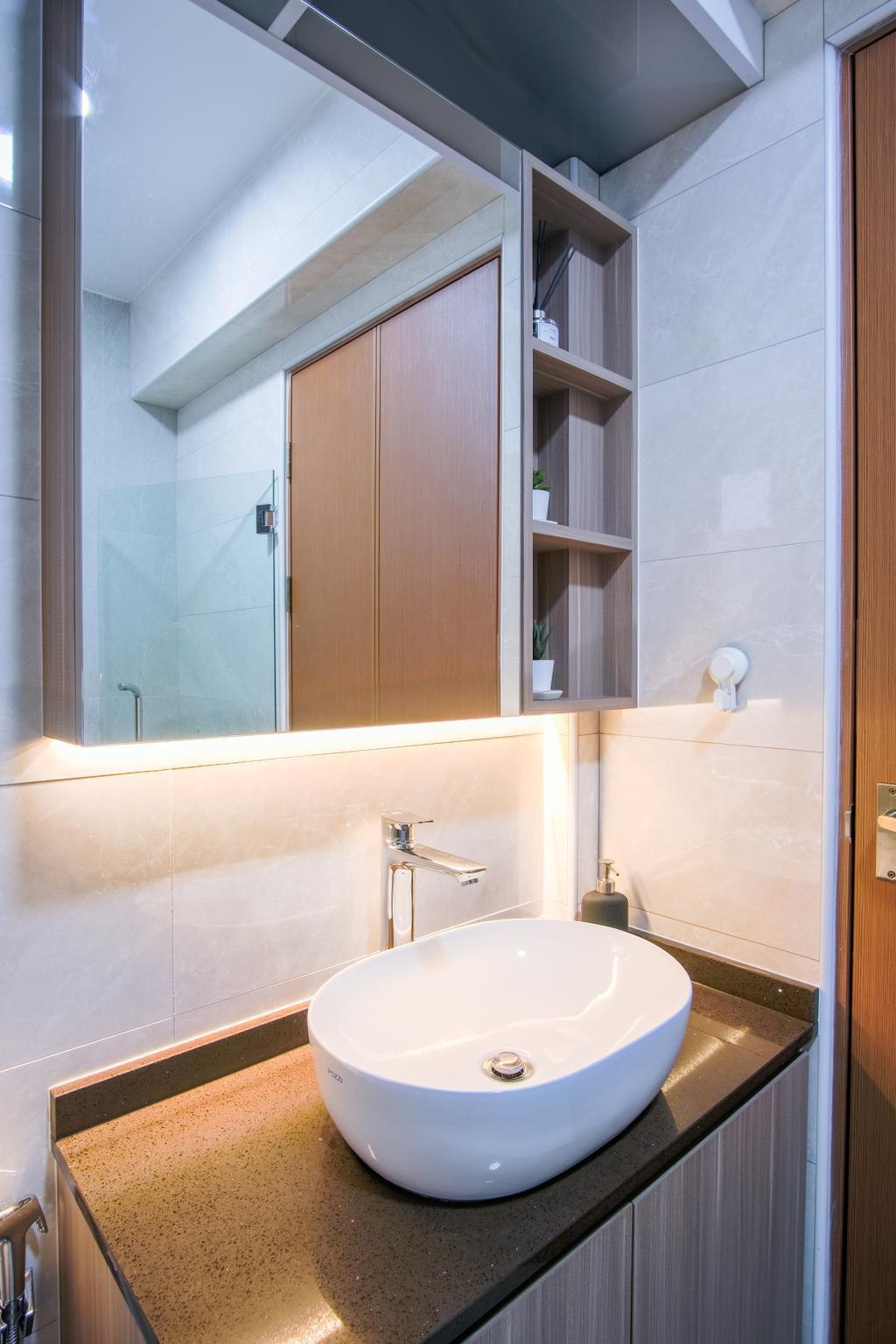 Scandinavian, HDB, Bathroom, Tampines North Drive 1, Interior Designer, Starry Homestead
