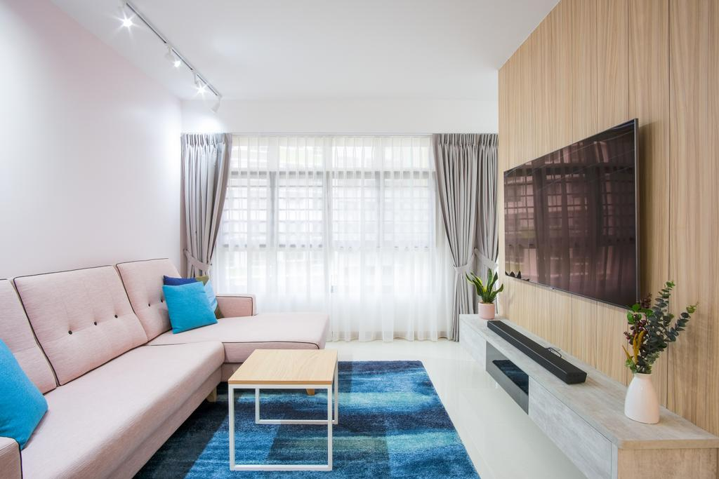 Scandinavian, HDB, Living Room, Tampines North Drive 1, Interior Designer, Starry Homestead
