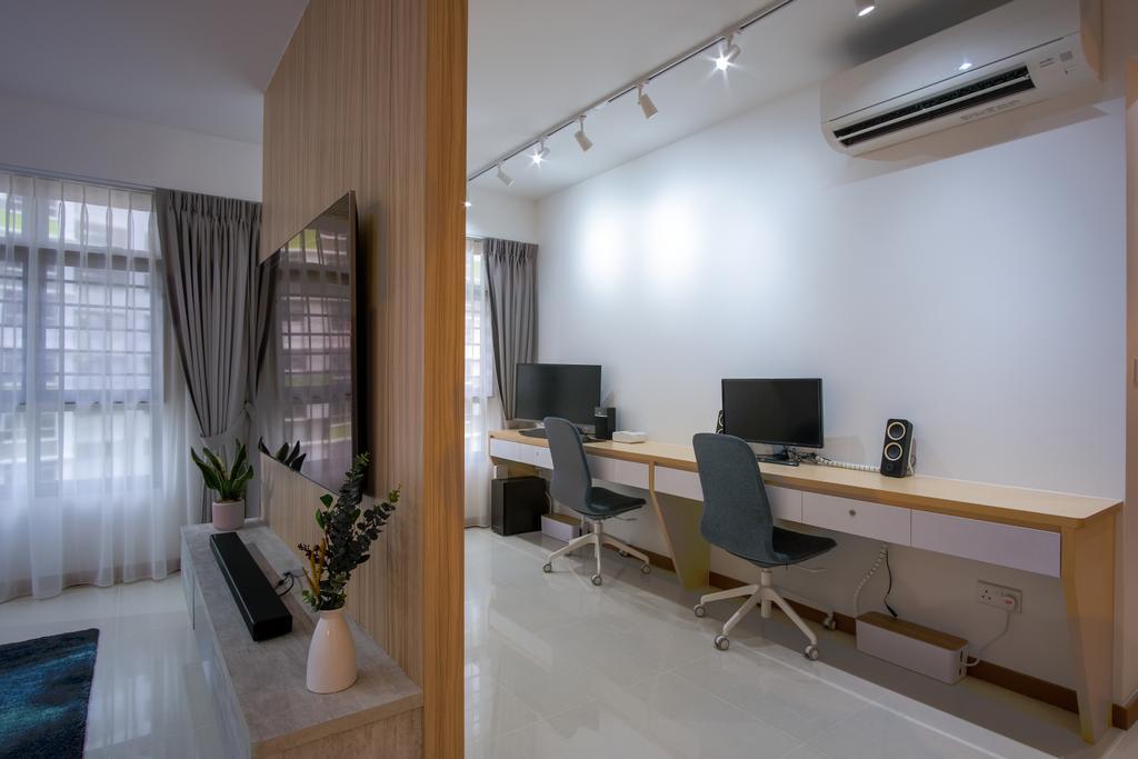 Scandinavian, HDB, Study, Tampines North Drive 1, Interior Designer, Starry Homestead