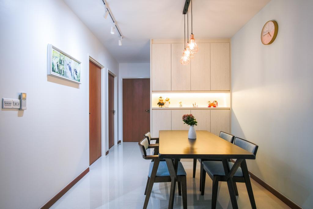 Scandinavian, HDB, Dining Room, Tampines North Drive 1, Interior Designer, Starry Homestead