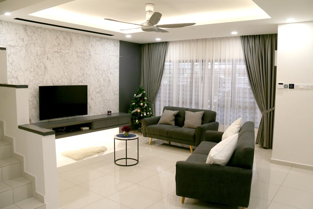 Modern, Landed, USJ, Subang, Interior Designer, Expression Design and Contract Sdn. Bhd., Contemporary