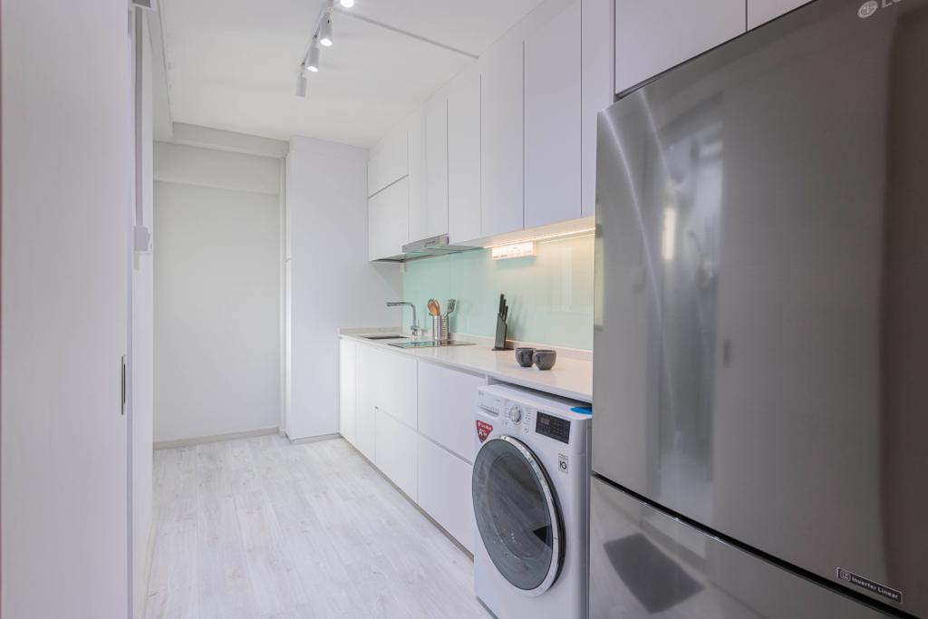 Scandinavian, HDB, Kitchen, Clementi Avenue 2, Interior Designer, Metier Planner, Contemporary