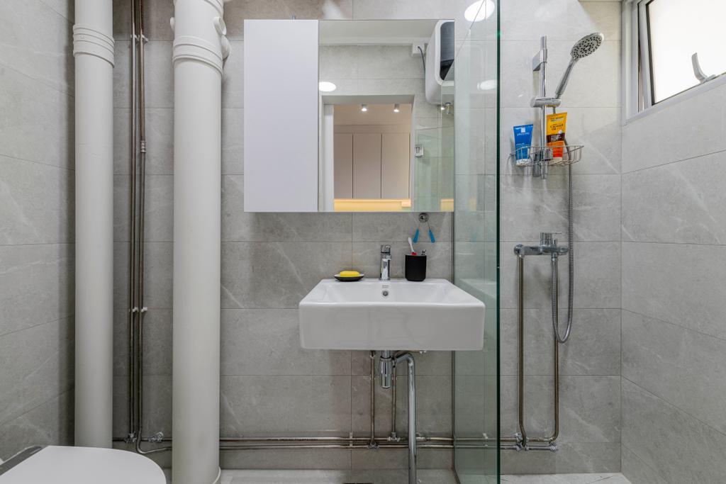 Scandinavian, HDB, Bathroom, Clementi Avenue 2, Interior Designer, Metier Planner, Contemporary