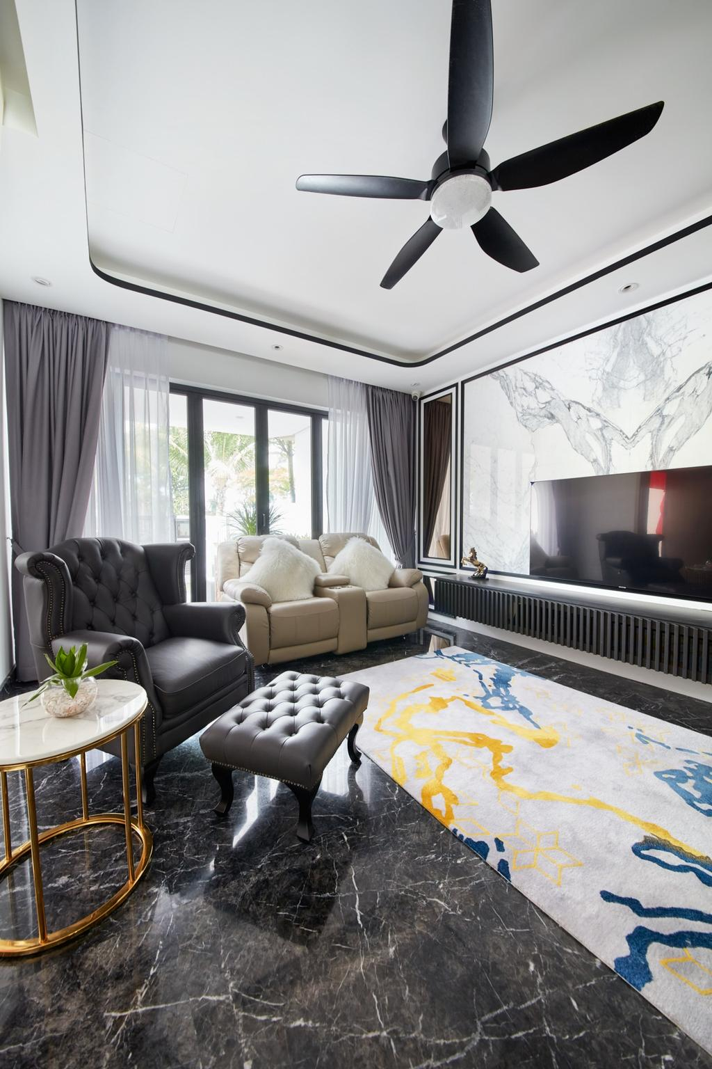 Modern, Landed, Living Room, Kerong Walk, Interior Designer, Free Space Intent