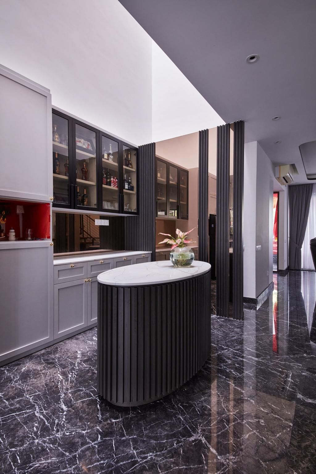 Modern, Landed, Kitchen, Kerong Walk, Interior Designer, Free Space Intent