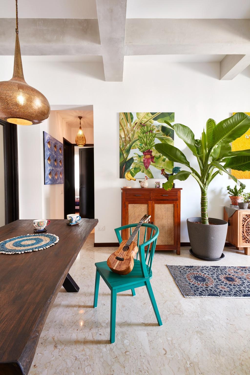 Eclectic, Condo, Dining Room, Costa Rhu, Interior Designer, Free Space Intent, Traditional