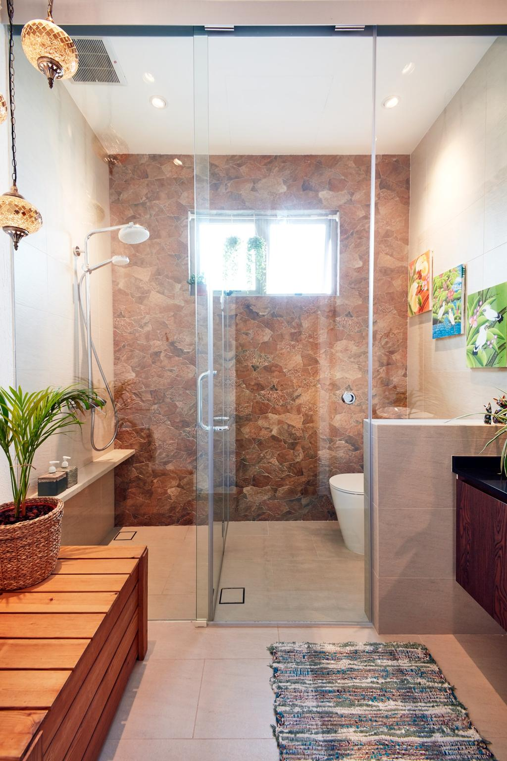 Eclectic, Condo, Bathroom, Costa Rhu, Interior Designer, Free Space Intent, Traditional