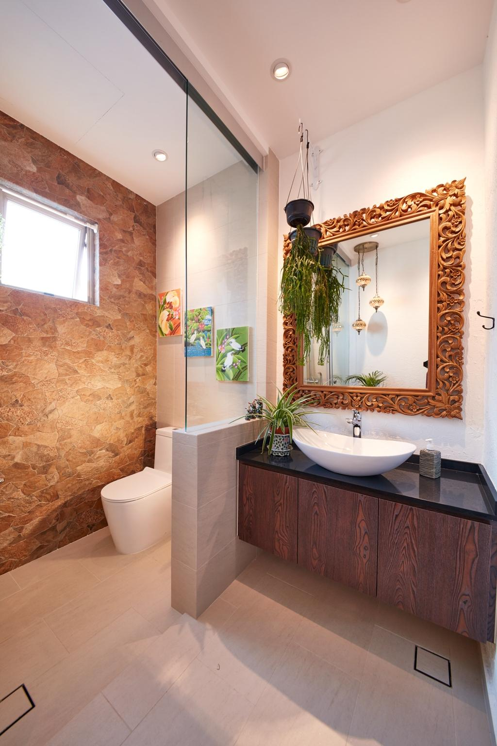 Eclectic, Condo, Bathroom, Costa Rhu, Interior Designer, Free Space Intent, Traditional