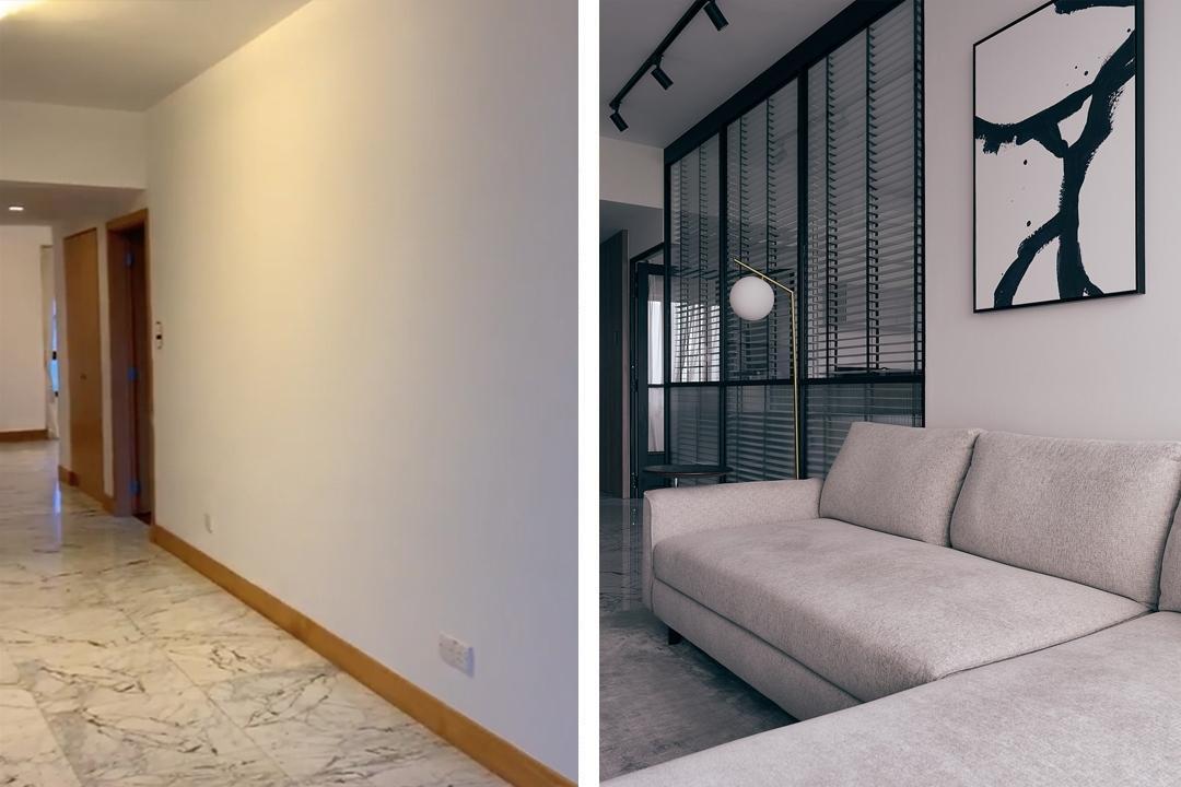 condominium water place singapore renovation monochrome nyc