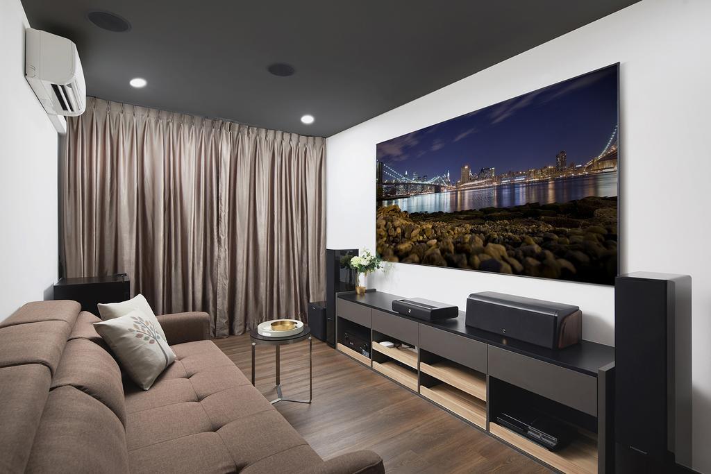 Modern, Landed, Living Room, Thomson Road, Interior Designer, Black N White Haus