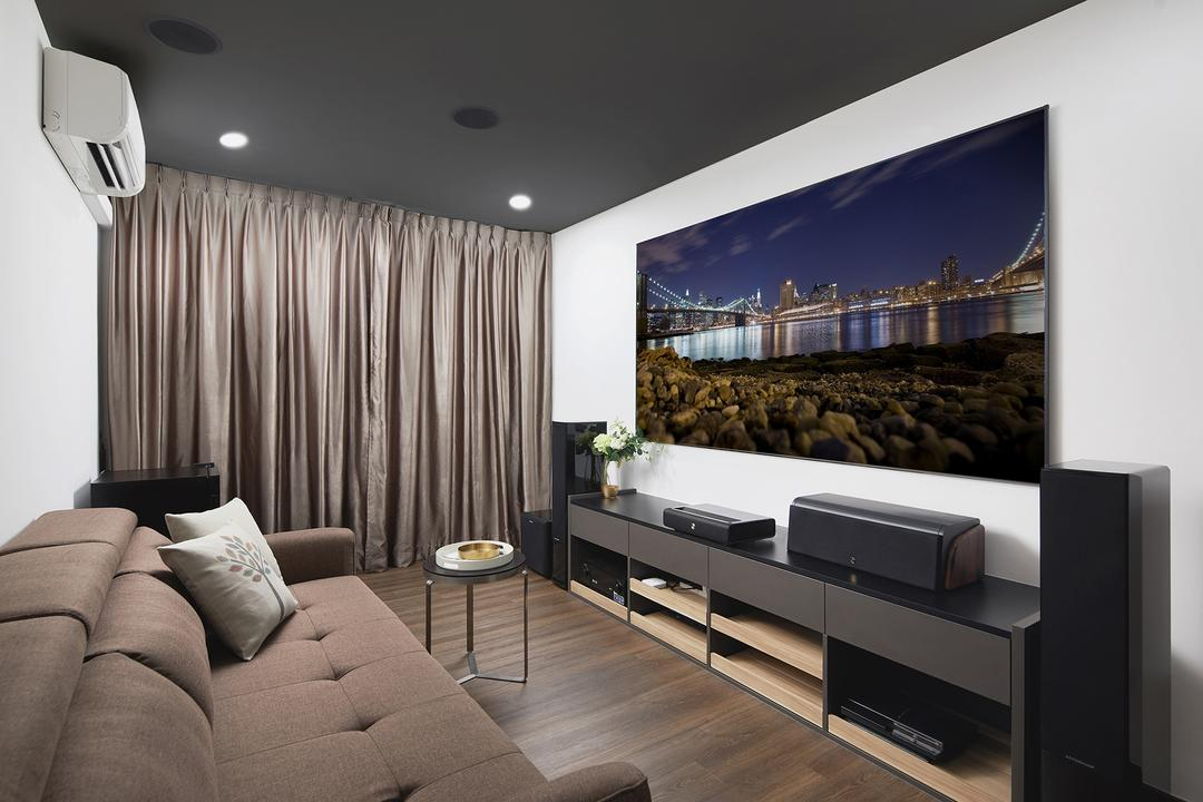 Thomson Road, BLACK N WHITE HAUS, Modern, Living Room, Landed