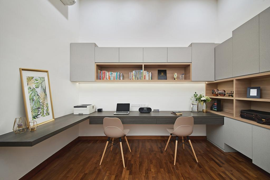 Modern, Landed, Study, Thomson Road, Interior Designer, Black N White Haus
