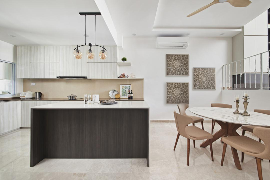 Thomson Road, BLACK N WHITE HAUS, Modern, Dining Room, Landed