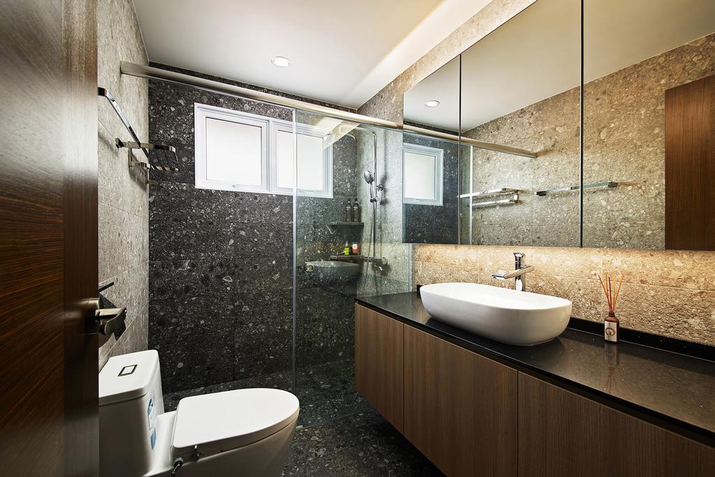 Modern, Landed, Bathroom, Thomson Road, Interior Designer, Black N White Haus