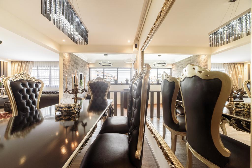 Modern, HDB, Dining Room, Bedok Reservoir Road, Interior Designer, Design 4 Space, Eclectic