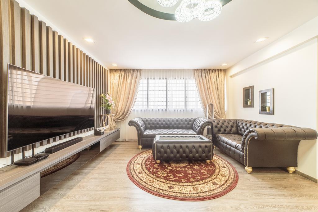 Modern, HDB, Living Room, Bedok Reservoir Road, Interior Designer, Design 4 Space, Eclectic