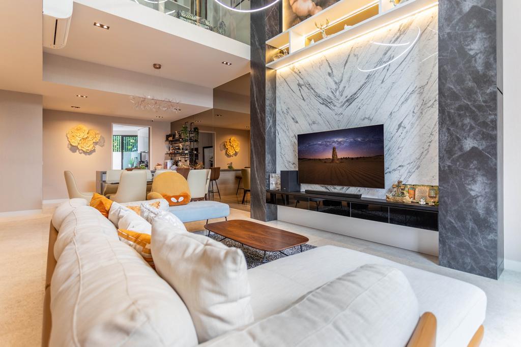 Modern, Landed, Living Room, Nim Rise, Interior Designer, Design 4 Space, Contemporary